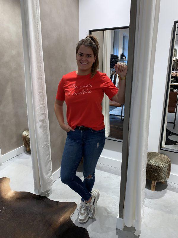 La vita e bella shirt rood