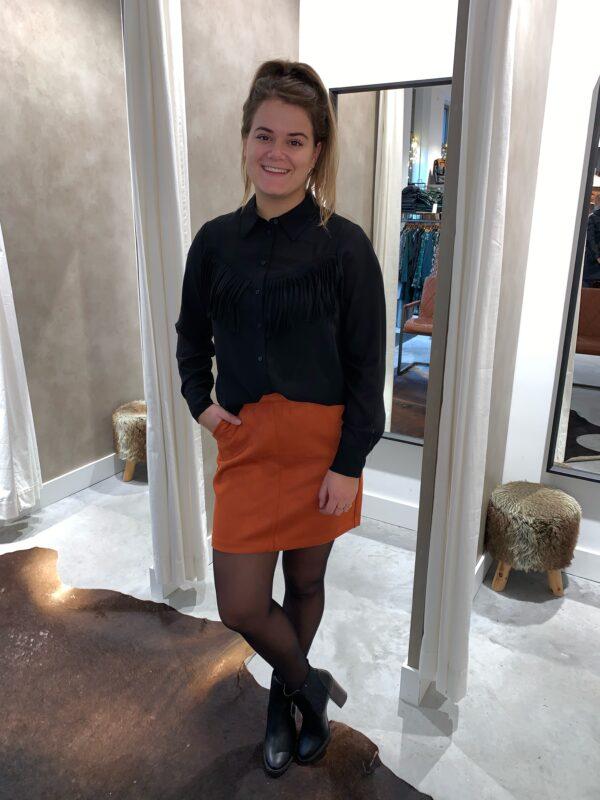 Faux suede skirt - Auburn