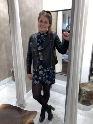 Highneck dress - Donkerblauw
