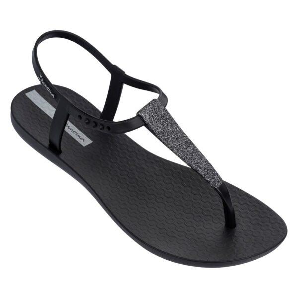 Ipanema sandaal zwart met glitters