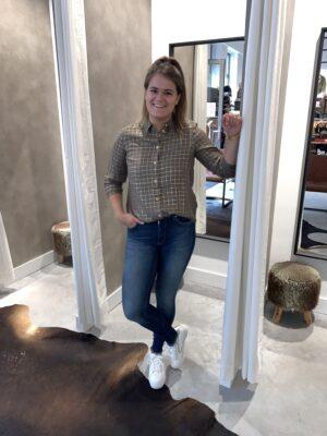 Kally blouse groen/goud