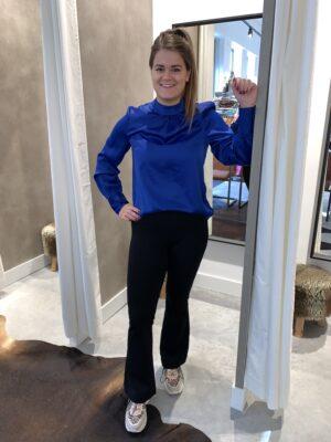 Kobaltblauwe blouse