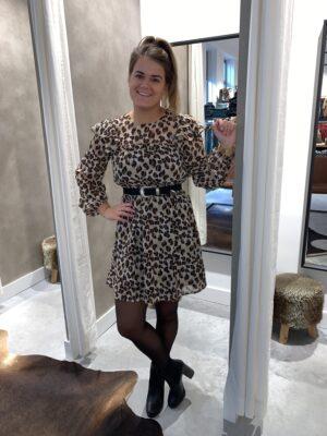 Leopard dress - Beige