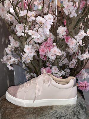 Roze sneakers glitter detail