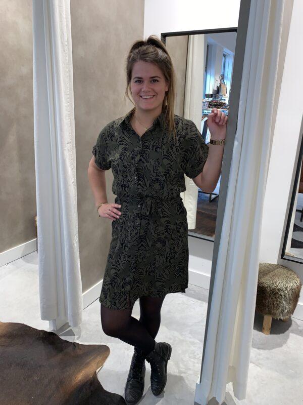 Sasha tijger dress groen