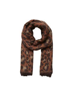 Sjaal leoprint - Cognac/bruin