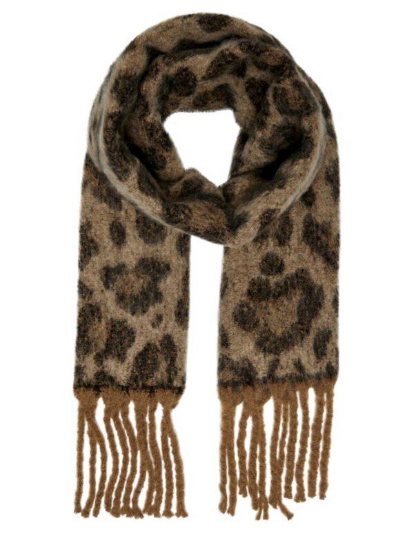 Sjaal leoprint - Lichtbruin