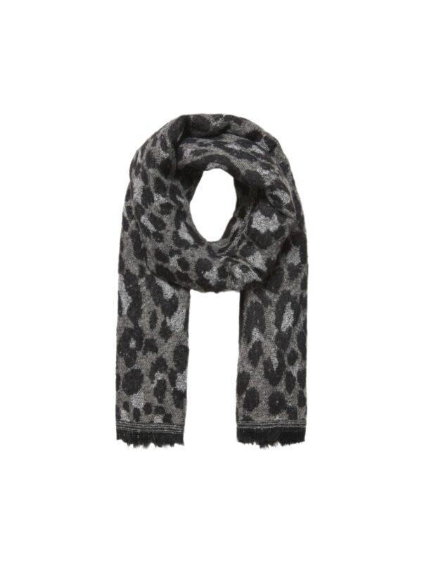 Sjaal leoprint - zwart