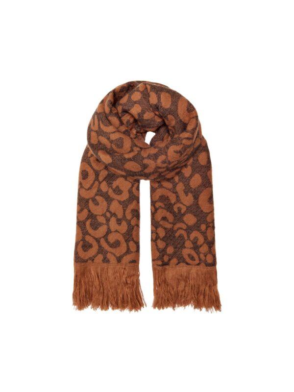 Sjaal leo/streep - Roestbruin