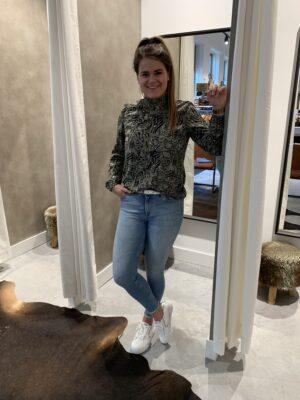 Snakeprint blouse groen