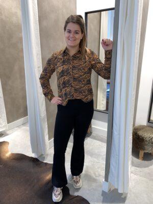 Zebra print blouse oranje