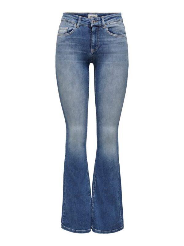 Blush flared jeans