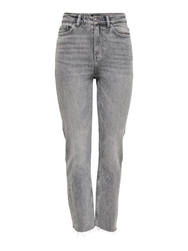 Emily high waist straight - licht grijs