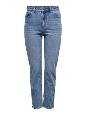 Emily high waist straight - medium blue