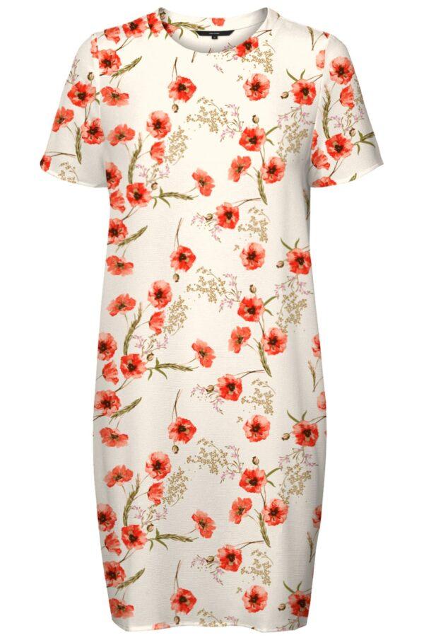 Wit jurkje met bloemenprint